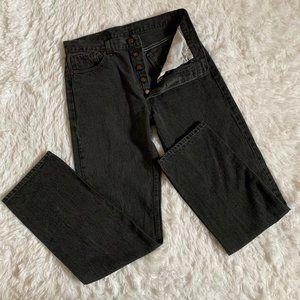 Vintage Levis Black 501 Straight Leg Jeans 30 x 32